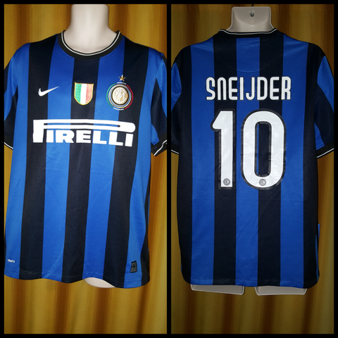 2009-10 Inter Milan Home Shirt Size Large - Sneijder #10
