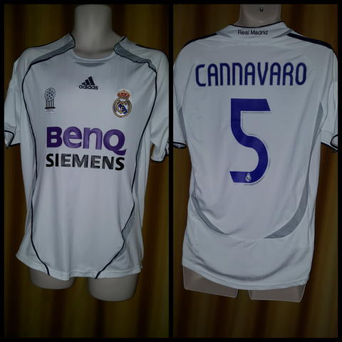 6cfd1c939 2006-07 Real Madrid Home Shirt Size Medium - Cannavaro  5 – Forever ...