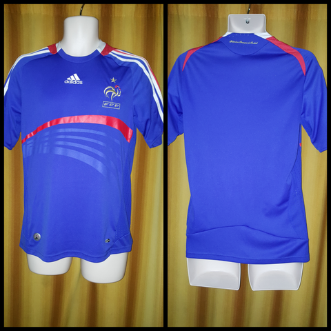 2007-08 France Home Shirt Size Small