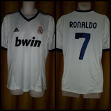 2012-13 Real Madrid Home Shirt Size Medium - Ronaldo #7