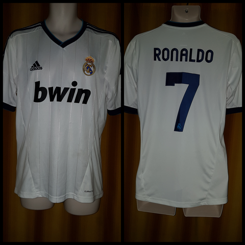 the latest 58d3d 32222 2012-13 Real Madrid Home Shirt Size Medium - Ronaldo #7 ...