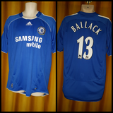 2006-08 Chelsea Home Shirt Size Large - Ballack #13