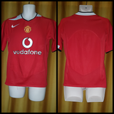 2004-06 Manchester United Home Shirt Size Small