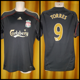 2009-10 Liverpool Away Shirt Size Medium - Torres #9 - Forever Football Shirts