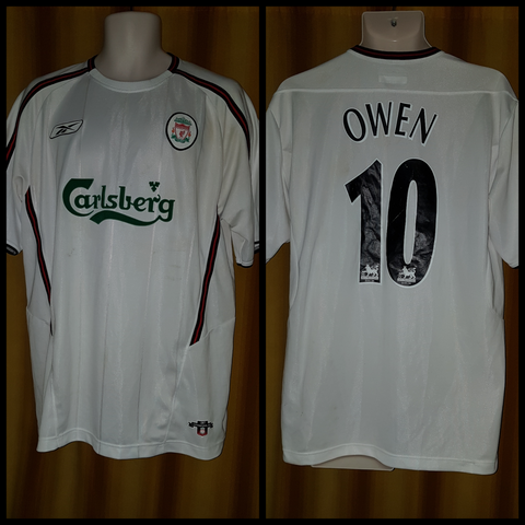 2003-04 Liverpool Away Shirt Size Large - Owen #10