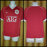 2006-07 Manchester United Home Shirt Size Small