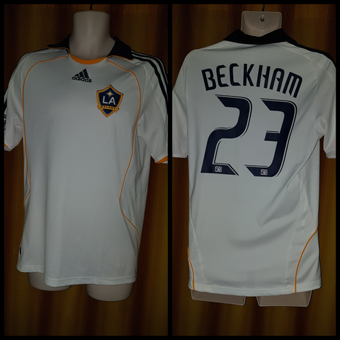 2008-09 LA Galaxy Home Shirt Size Small - Beckham #23