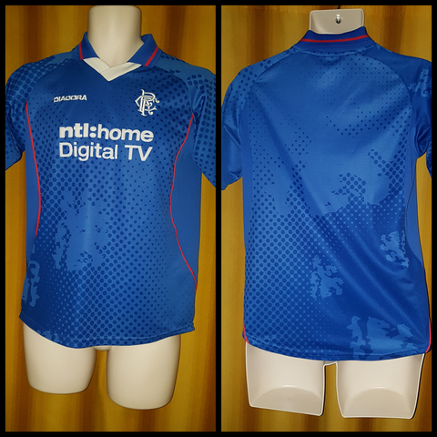 2002-03 Rangers Home Shirt Size Small
