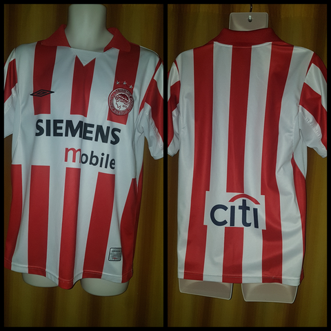 2004-05 Olympiacos Home Shirt Size Medium - Forever Football Shirts