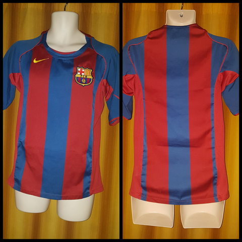 2004-05 Barcelona Home Shirt Size Small - Forever Football Shirts