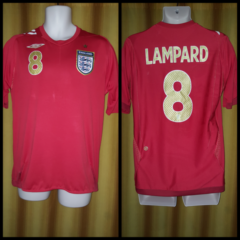 2006-08 England Away Shirt Size Medium - Lampard #8