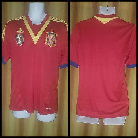 2012-13 Spain Home Shirt Size Medium