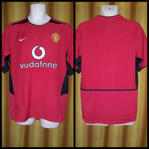 2002-04 Manchester United Home Shirt Size Medium