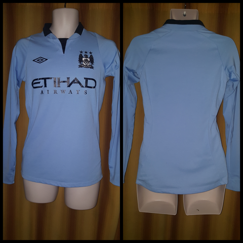 2012-13 Manchester City Home Shirt Size 34 (Long Sleeve)