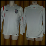 2005-06 England Home Shirt Size Medium (Long Sleeve)