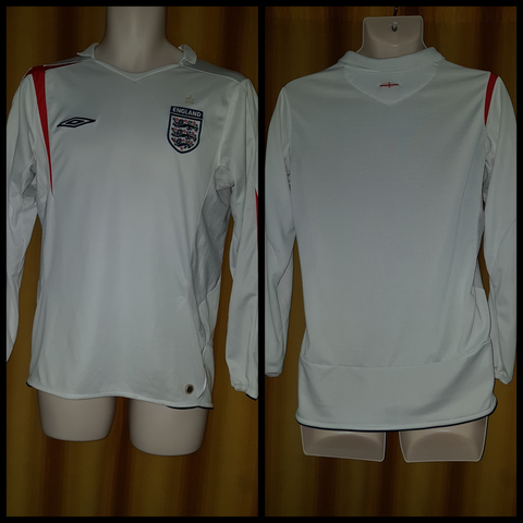 2005-06 England Home Shirt Size Medium (Long Sleeve) - Forever Football Shirts