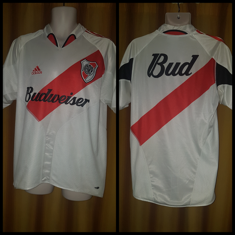 2003-05 River Plate Home Shirt Size Medium - Forever Football Shirts