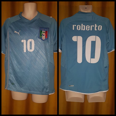 2009 Italy Home Shirt (Confederations Cup) Size Medium - Roberto #10