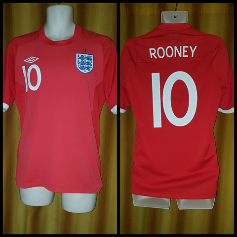 2009-10 England Away Shirt Size 38 – Rooney #10 - Forever Football Shirts