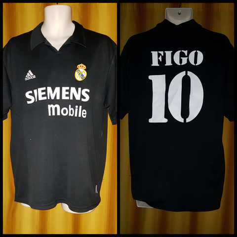 2002-03 Real Madrid Centenary Away Shirt Size Large – Figo #10