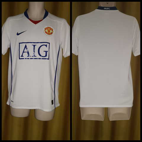 2008-09 Manchester United Away Shirt Size Small