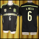 2014-15 Spain Away Shirt Size Medium - Iniesta #6