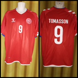 2018-19 Denmark Home Shirt Size Extra Large - Tomasson #9