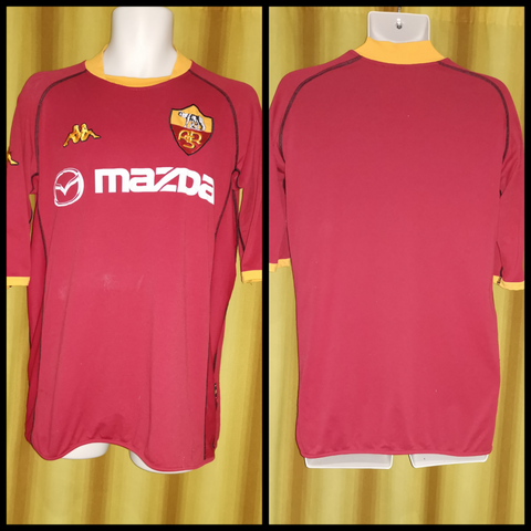 2002-03 AS Roma Domestic Home Shirt Size Extra Large