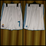 2017-18 Real Madrid Home Shorts Size Small - #7