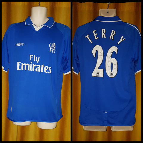 2001-03 Chelsea Home Shirt Size Medium - Terry #26