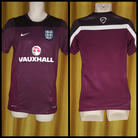 2014-15 England Training Shirt Size Small