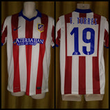 2014-15 Atletico Madrid Home Shirt Size Medium - F. Torres #19
