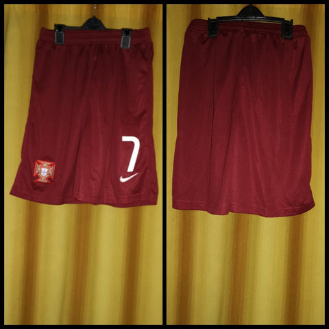 2014-15 Portugal Home Shorts Size Large - #7