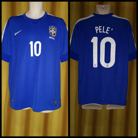 2013 Brazil Away Shirt Size XL - Pele #10