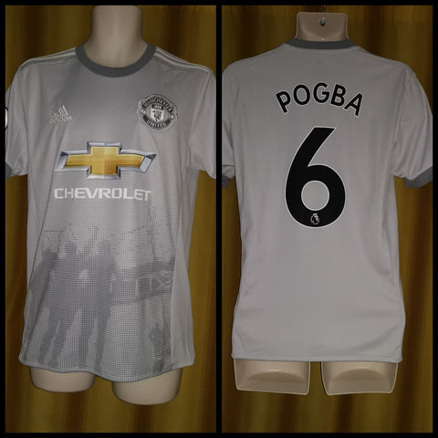 2017-18 Manchester United 3rd Shirt Size Small - Pogba #6