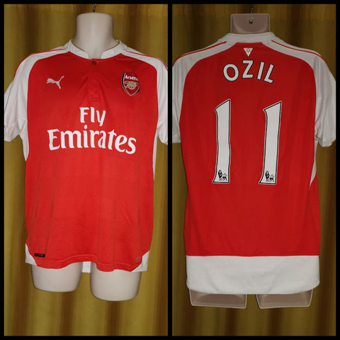 2015-16 Arsenal Home Shirt Size Large – Ozil #11