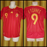 2005-07 Spain Home Shirt Size Medium - F. Torres #9