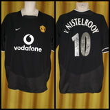 2003-05 Manchester United Away Shirt Size Large - V. Nistelrooy #10