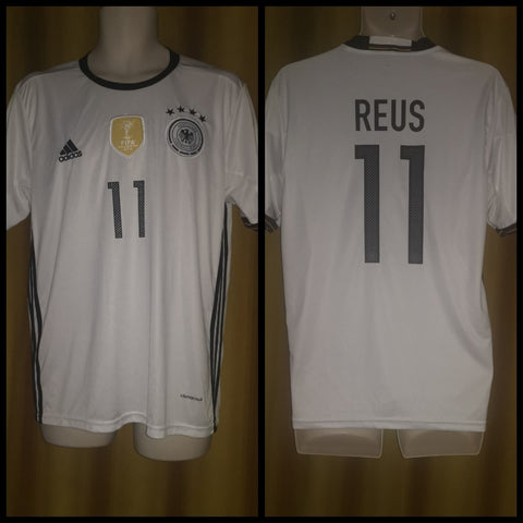 2015-16 Germany Home Shirt Size Medium - Reus #11