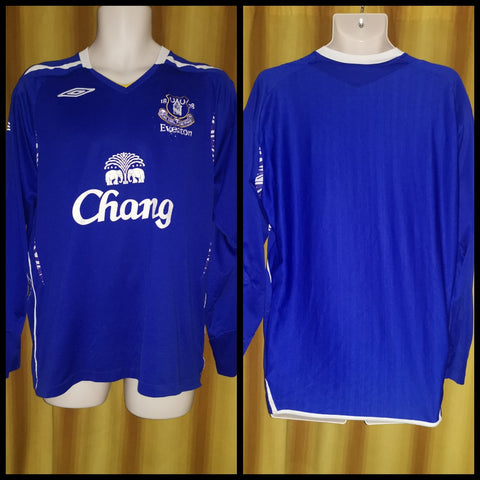 2007-08 Everton Home Shirt Size Extra Large (Long Sleeve)