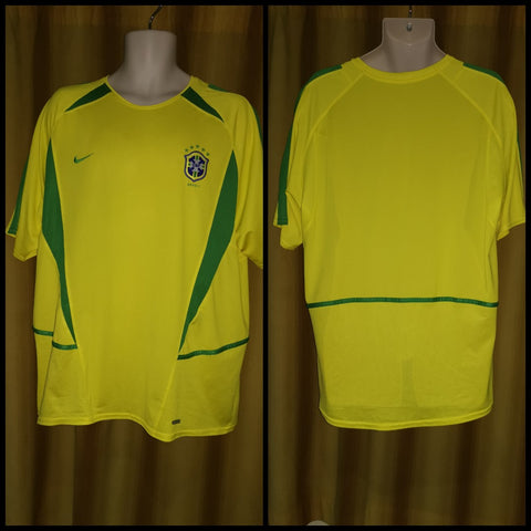 2002-03 Brazil Home Shirt Size Extra Large