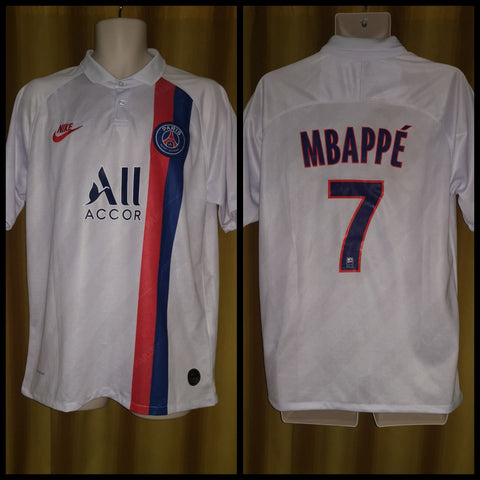 2019-20 Paris Saint Germain 3rd Shirt Size Extra Large - Mbappe #7