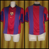 2000-01 Barcelona Home Shirt Size Small