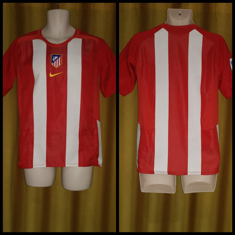 2005-06 Atletico Madrid Home Shirt Size XL Boys