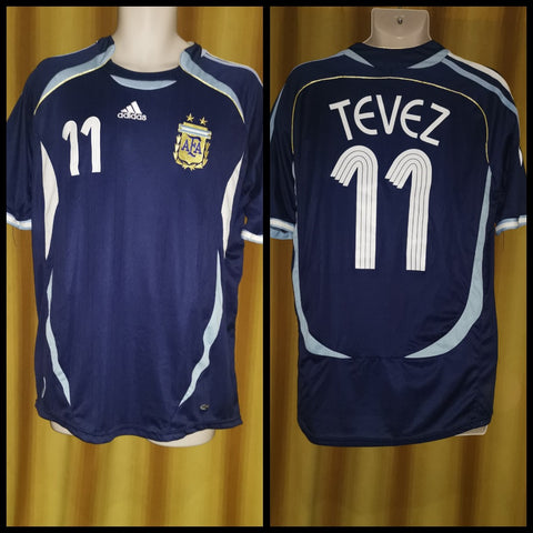 2005-07 Argentina Away Shirt Size Extra Large - Tevez #11