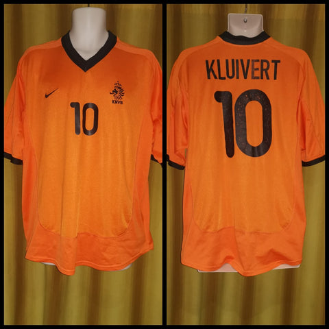 2000-02 Holland Home Shirt Size Extra Large - Kluivert #10