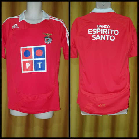 2007-08 Benfica Home Shirt Size Small