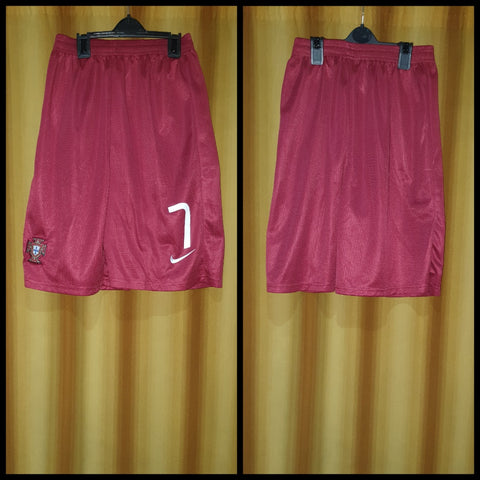 2014-15 Portugal Home Shorts Size Extra Large - #7
