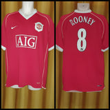 2006-07 Manchester United Home Shirt Size Extra Large - Rooney #8