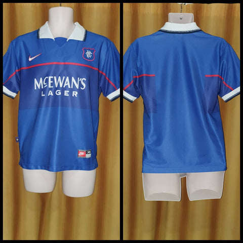 1997-99 Rangers Home Shirt Size Extra Small